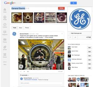 GE Google+ Page