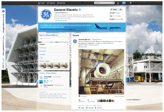 GE Twitter Page