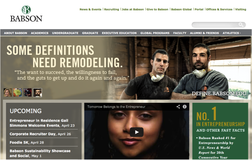 Babson College Higher Education Brand Strategy