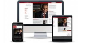 Responsive Web Design University and Alumni Magazine