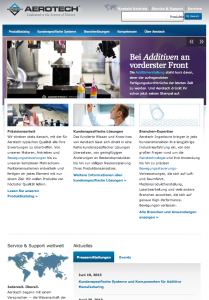 Aerotech International Website Design