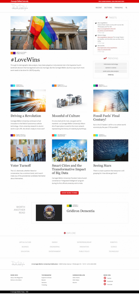 Responsive University Magazine Website