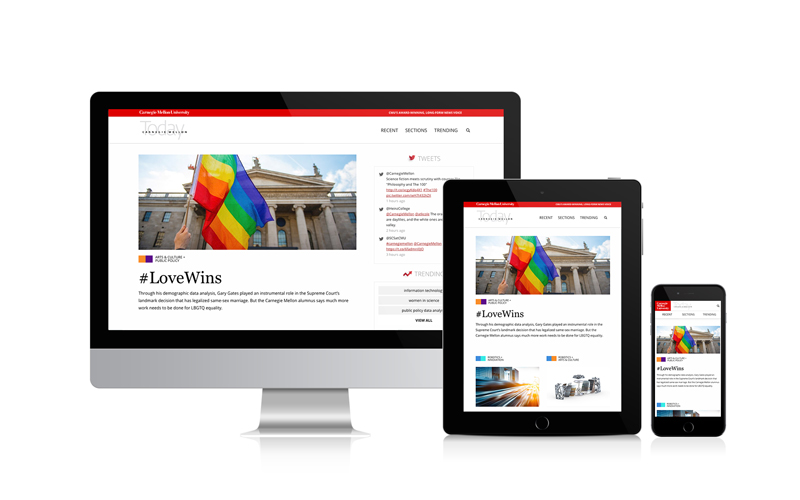 responsive university magazine website views