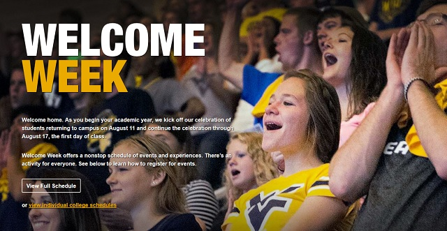 West Virginia University Welcome Week
