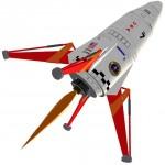 Semroc Mars Lander Rocket