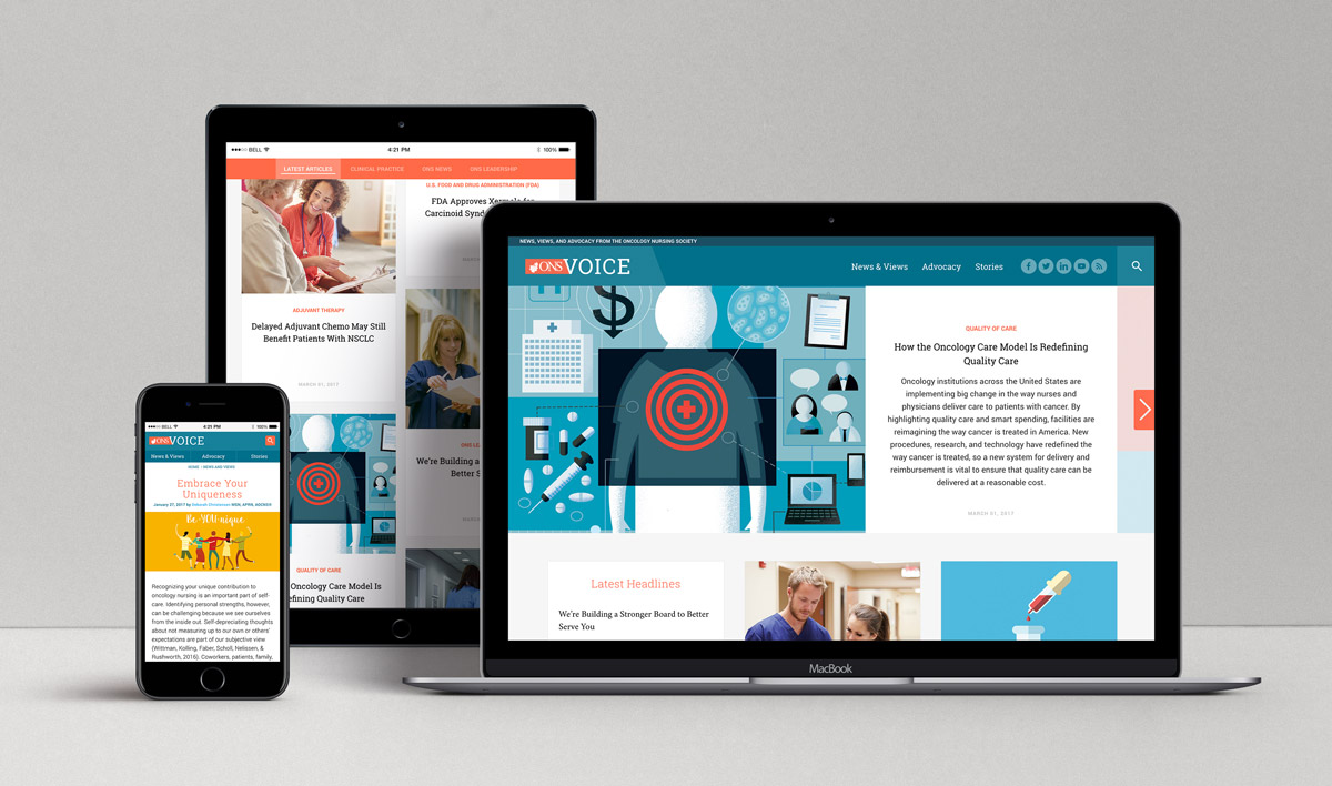 Association Magazine Website Design