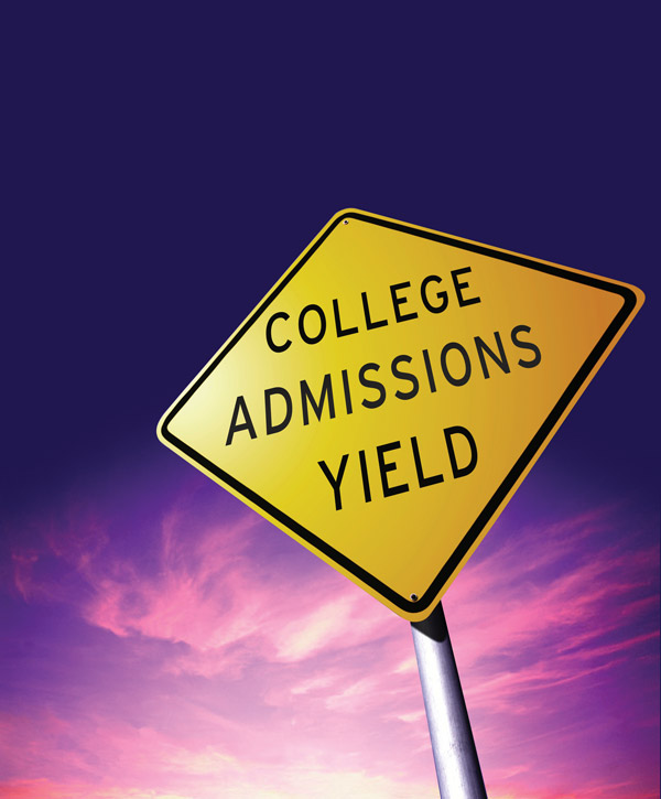 college admissions yield strategies
