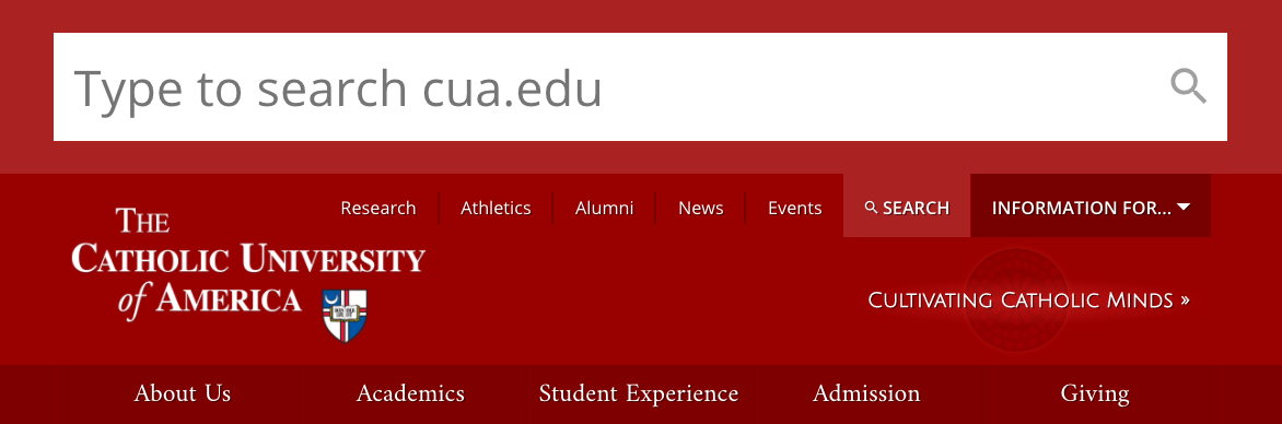 CUA Search Bar