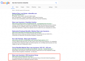 insurance company website search results