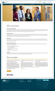 insurance company website page