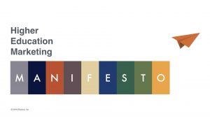 Higher Education Marketing Manifesto